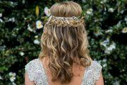 wedding hairstyle waterfall braid sunshine coast