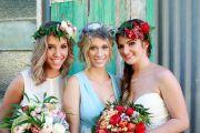 floral headpiece for bride sunshine coast