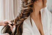bride wedding braid