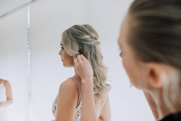 Down hair style for bride